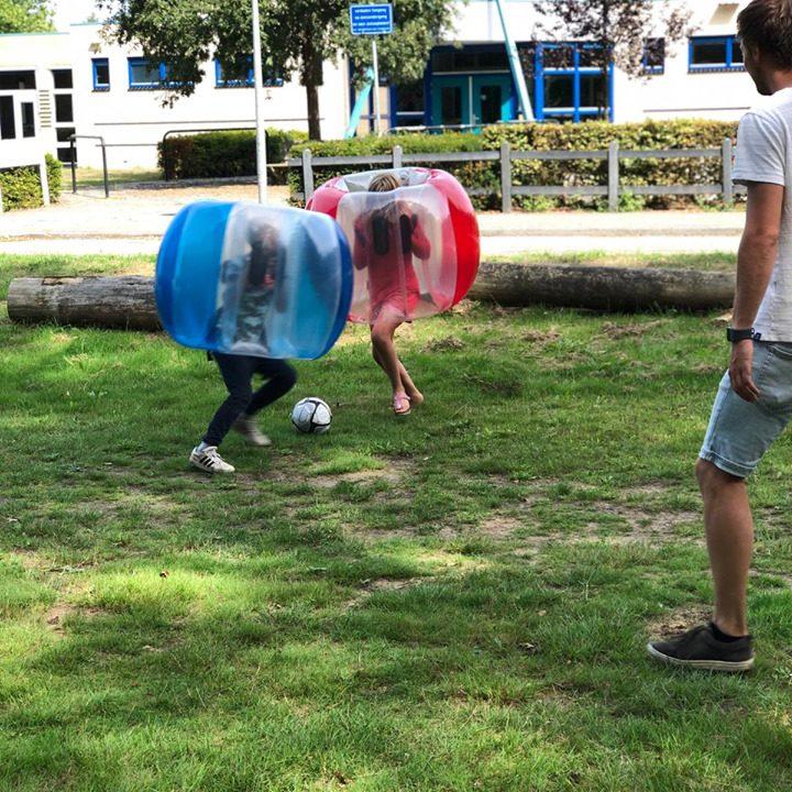 Bubbelvoetbal-kinderen